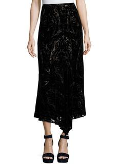 Nanette Lepore Velvet Paisley Midi Skirt