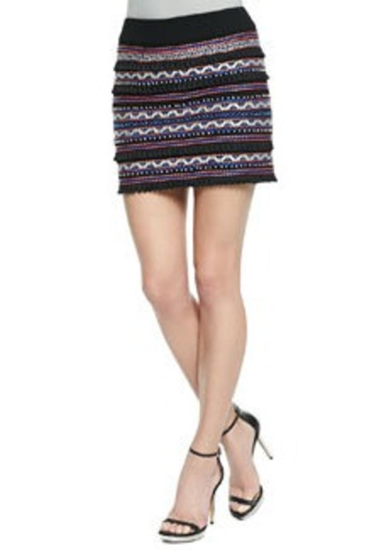 Nanette Lepore Vital Spark Embroidered Tassel Skirt