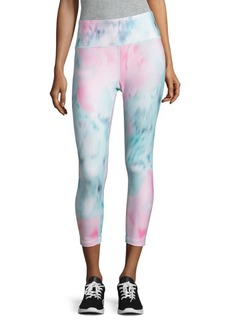 Nanette Lepore Watercolor Athletic Capri Leggings