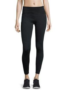 Nanette Lepore Wide-Waist Textured-Panel Leggings
