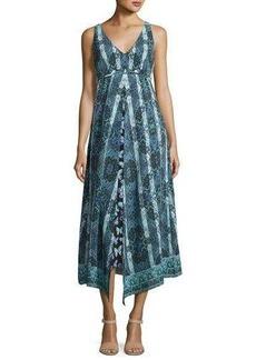Nanette Lepore Windswept Floral Silk Midi Sundress