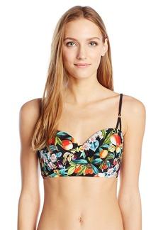 Nanette Lepore Women's Amor Atitlan Coquette Bustier Bra Bikini Top  M