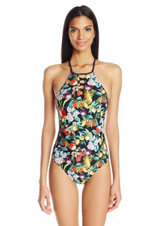 Nanette Lepore Women's Amor Atitlan Seductress Strappy One Piece Swimsuit  M