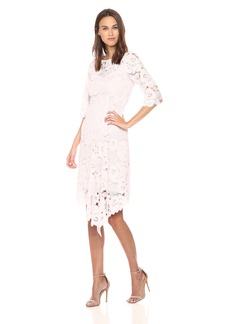 Nanette Lepore Women's bailamos Long Sleeve lace Asymetrical Hem Dress