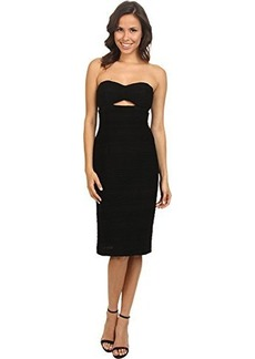 Nanette Lepore Women's Bombshell Textured Knit Strapless Cocktail Dress