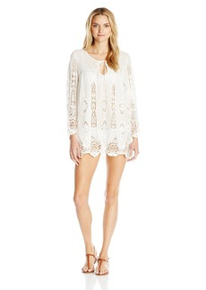 Nanette Lepore Women's Carnaby Crochet Tunic Dress Coverup