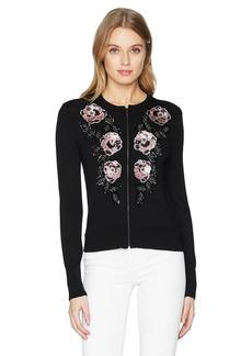 Nanette Lepore Women's Cha Embellished Sweater Cardigan  m
