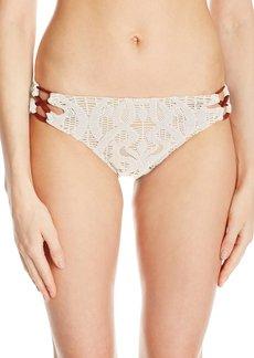 Nanette Lepore Women's Coachella Valley Crochet Charmer Bikini Bottom  L