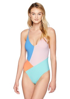 Nanette Lepore Women's Color Block Strappy Back One Piece Swimsuit