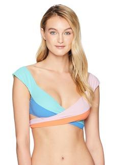 Nanette Lepore Women's Color Block Wrap Swimsuit Top