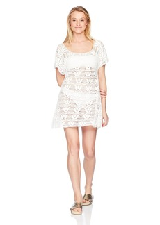 Nanette Lepore Women's Crochet Covers Short Dress