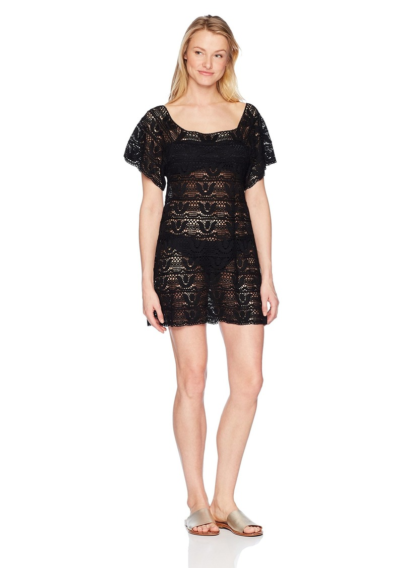Nanette Lepore Women's Crochet Covers Short Dress