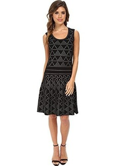 Nanette Lepore Women's Diamond Dazzle Knit Fit and Flare Dress