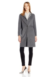 Nanette Lepore Women's Elegant Double Faced ingle Breasted Wool Blend Coat  mall