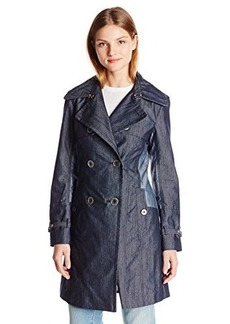 Nanette Lepore Women's Elegant Twill Double Breasted Trench Coat
