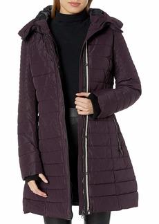 Nanette Lepore Women's Envelope Hood Puffer Coat FIG