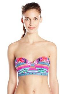 Nanette Lepore Women's Flora Fiesta Longline Coquette Bikini Top
