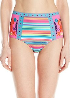 Nanette Lepore Women's Flora Fiesta Pin-Up High Waisted Bikini Bottom