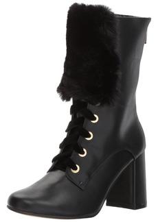 Nanette Lepore Women's Freya Mid Calf Boot black  M US