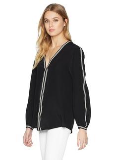 Nanette Lepore Women's Granada Silk Long Sleeve top  m