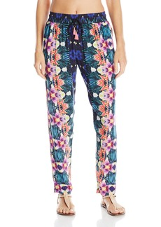 Nanette Lepore Women's Habanera Lightweight Harem Pant Cover up with Elastic Waistband