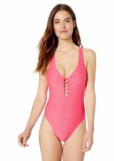 Nanette Lepore Women's High Leg One Piece Swimsuit