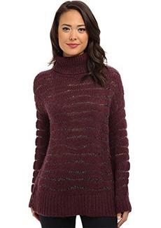 Nanette Lepore Women's Homespun Sparkle Yarn Alpaca Turtleneck Sweater  Medium