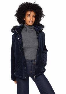 Nanette Lepore Women's Hooded Velvet Parka  XL
