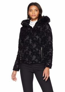 Nanette Lepore Women's Hooded Velvet Parka  XS