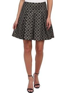 Nanette Lepore Women's Magician Metallic Jacquard Flared Skirt