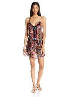 Nanette Lepore Women's Mayan Mosaic Short Dress Cover up  M