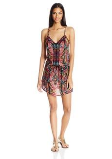 Nanette Lepore Women's Mayan Mosaic Short Dress Cover Up  M