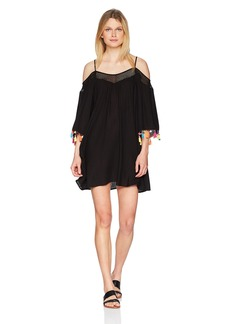 Nanette Lepore Women's Off Shoulder Tassel Dress