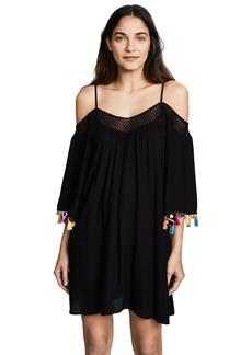 Nanette Lepore Women's Off Shoulder Tassel Dress