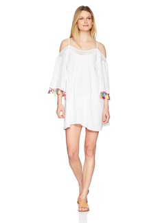 Nanette Lepore Women's Off Shoulder Tassel Dress  ExtraSmall