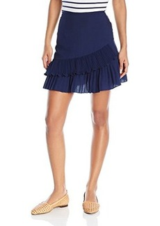 Nanette Lepore Women's Pleated Flounce Skirt
