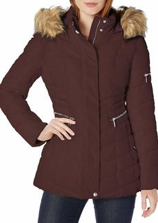 Nanette Lepore Women's Plus Size Chevron Quilted Puffer Jacket