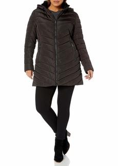 Nanette Lepore Women's Plus Size Long Puffer Coat
