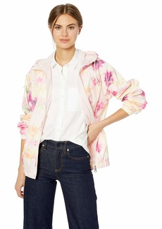 Nanette Lepore Women's Printed Windbreaker Jacket Flower XL
