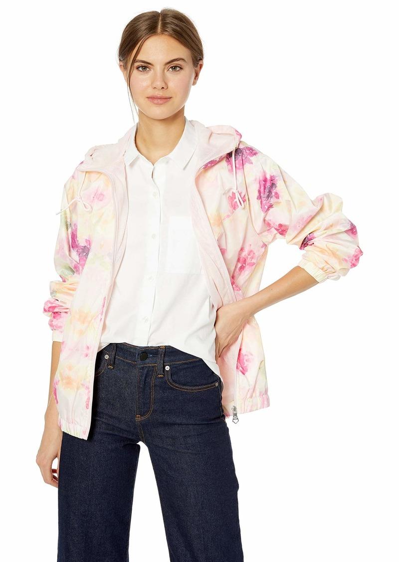 Nanette Lepore Women's Printed Windbreaker Jacket Flower XL