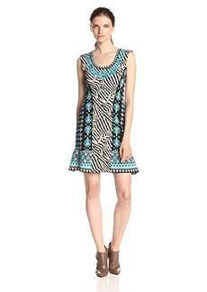 Nanette Lepore Women's Safari Zebra Print Mix Sweater Dress