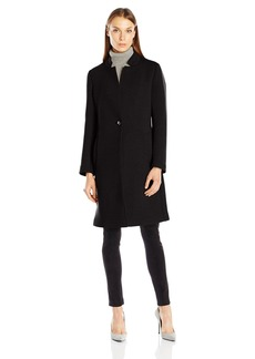 Nanette Lepore Women's Scuba Notched Collar Coat