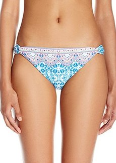 Nanette Lepore Women's Seaside Tile Vamp Cheeky Back Bikini Bottom