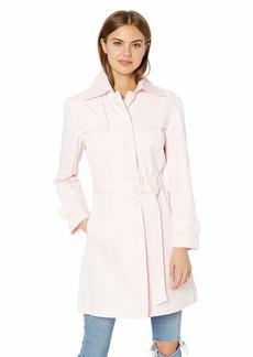 White S Nanette Lepore Womens Poly Cotton Spring Jacket
