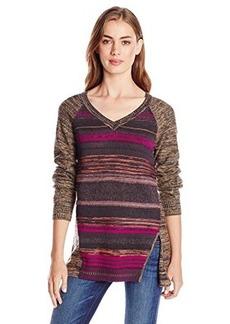 Nanette Lepore Women's Striped Merino Wool Pullover Sweater  Large