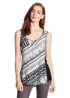 Nanette Lepore Women's Striped Silk Sleeveless Blouse Multi