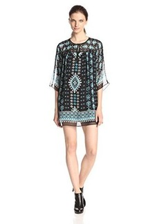 Nanette Lepore Women's Sun-City Silk Print Shift Dress