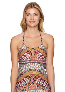 Nanette Lepore Women's Keyhole Front Halter Tankini Swimsuit Top