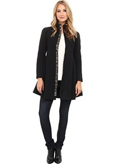 Nanette Lepore Women's Three Ring Embellished Flared Coat