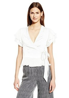 Nanette Lepore Women's Two Step Wrap Top